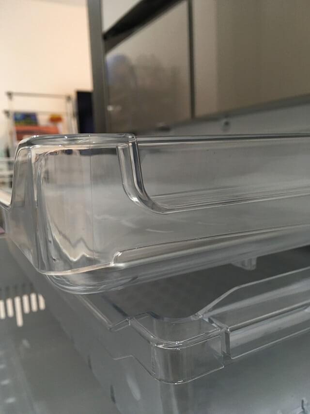 冷凍室下段の上段側面