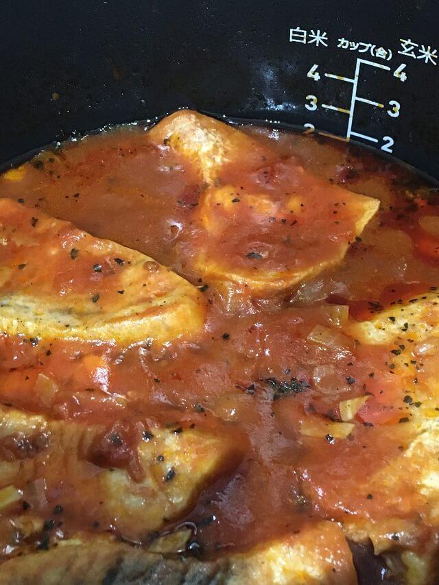 カジキのトマト煮込みできあがり